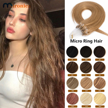 Hair-Extensions Links Micro-Ring Mironica-Loop Human Bead Straight Virgin-Hair Keratin