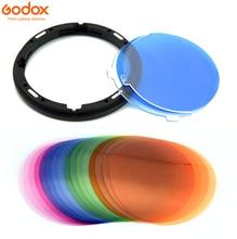 Godox AK R16 Magnetic Mount Difusor Placa com V 11T V11T Efeito de Cor Gel Set para Godox V1 Série Luz do Flash Speedlite