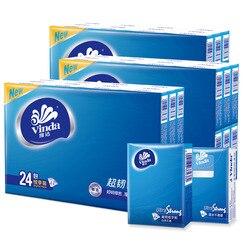 Vinda Taschentuch Papier 72 Tasche Voller Karton Box 4-Schicht Tissue Pakete Mini Tragbare Starke Unscented Serviette