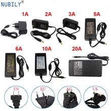цена на LED Power Supply 12V DC Adapter Power AC110V/220V Lighting Transformer 1A 2A 3A 5A 10A 20A For CCTV Camera LED Strip EU US plug
