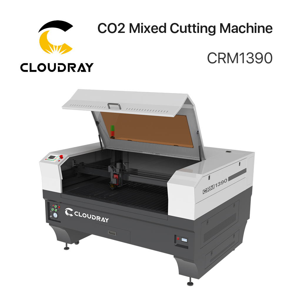 Cloudray 130W / 300W CO2 Mixed Cutting Machine CRM1390 & CRM1313 &CRM1620 With S&A Chiller 5200AH