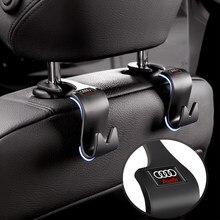 2 pçs acessórios do carro multi-função de armazenamento gancho escondido para audi q3 q5 q7 a1 a3 a4 a5 a7 a8 tt estilo do carro