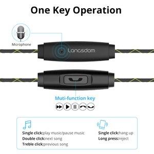 Image 4 - Langsdom Headphone Running Stereo Sport Earphone for Phone Xiaomi Super Bass Headset Hifi Earphone 3.5mm Earbuds with Microphone