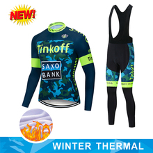 NEW 2020 TINKOFF Winter Men Fleece to keep warm long sleeve Cycling Jersey Set Bike MTB Bicycle Cycling Clothing Ropa Ciclismo