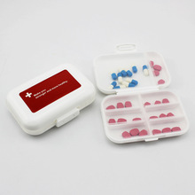 Pill Box  8 Lattices Drug Organizer Plastic Tablet Holder Days Travel Medicine Case Capsule Container Easy To Carry electronic digital compartment smart timing sealed pill case medicine box container tablet storage case circular reminder alarm