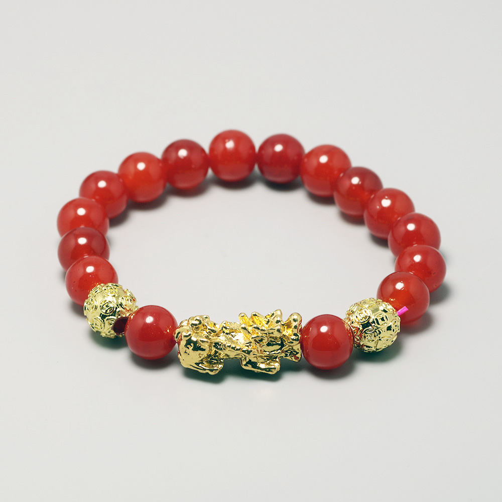 Natural Red Onyx Beads Charm Bracelets For Women Men <font><b>Bisexual</b></font> Buddha Prayer Bracelet Feng Shui <font><b>Jewelry</b></font> Armbanden Voor Vrouwen image