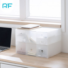 Combination Transparent Storage Box Thickened Dustproof Desktop Storage Box Can Be Superimposed Combined Sundries Cabinet R-F