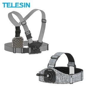 Image 1 - TELESIN حزام صدر للرأس ، حامل مزدوج ، مقاوم للانزلاق ، مرن ، تعديل قوي لـ GoPro 9 8 Osmo ، ملحقات Insta360