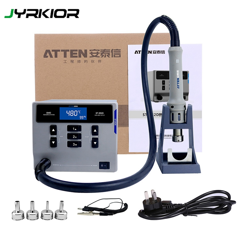 ATTEN ST-862D Hot Air Gun Intelligent Lead-Free Digital Display Rework Station Mobile Phone Repair High Power 1000W
