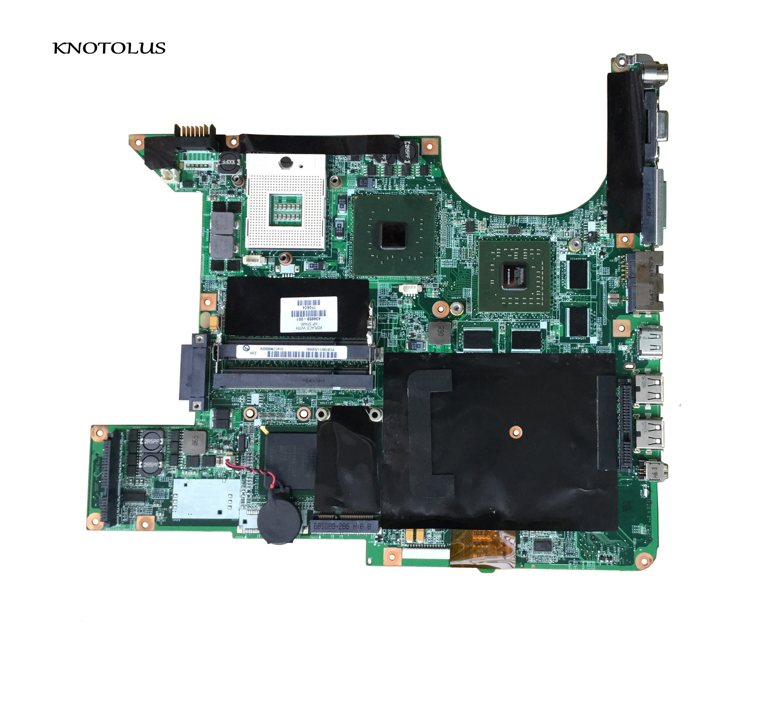 Free Shipping 434660-001 434659-001 For HP Pavilion Dv9000 Notebook For HP Pavilion DV9500 DV97000 Motherboard Tested Good