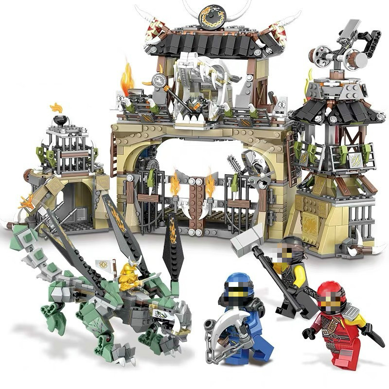 1492PCS Ninjagoe Series Heavy <font><b>Dragon</b></font> Base Camp <font><b>Castle</b></font> Building Blocks Compatible <font><b>Legoinglys</b></font> Ninja Figures Bricks Toys For Kids image
