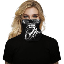 #H25 Halloween Women Men Face Cover Scarves Unisex Seamless Print Neck Gaiter Tube Mask Headwear Motorcycle Hiking Scarves