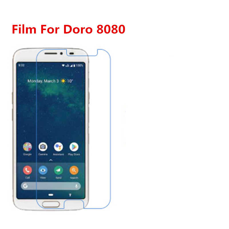 1/2/5/10 Pcs Ultra Thin Klar HD LCD Screen Protector Film Mit Reinigungs Tuch Film für Doro 8080.