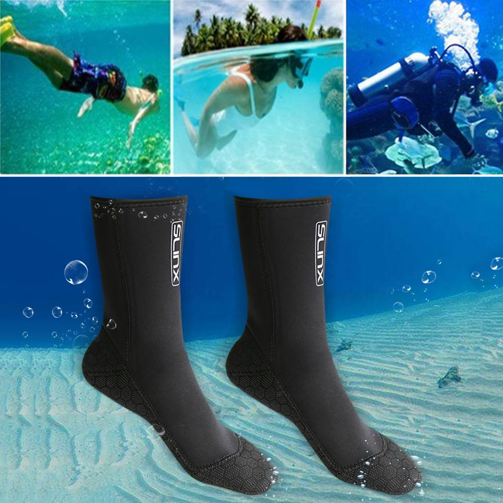 SLINX 3mm Swimming Boot Scuba Swimwear Wetsuit Neoprene Diving Socks Anti Scratches Warming Snorkeling Socks