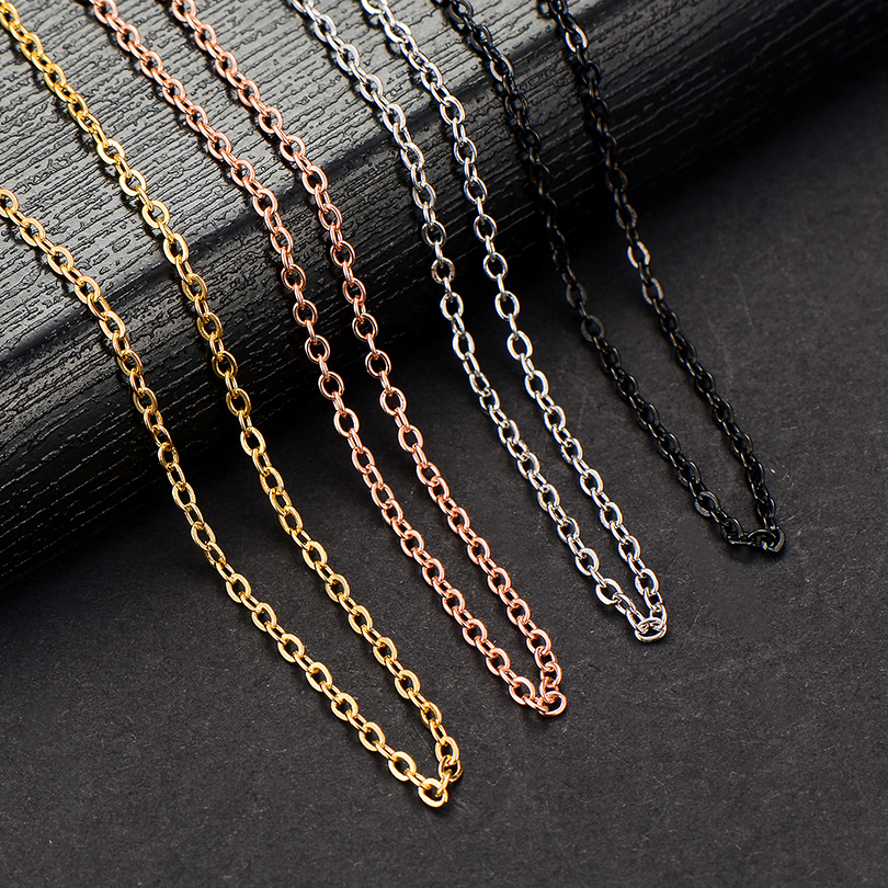 10m Electroplate Brass Twisted Chains Curb Chains For Jewelry DIY Chain Necklace