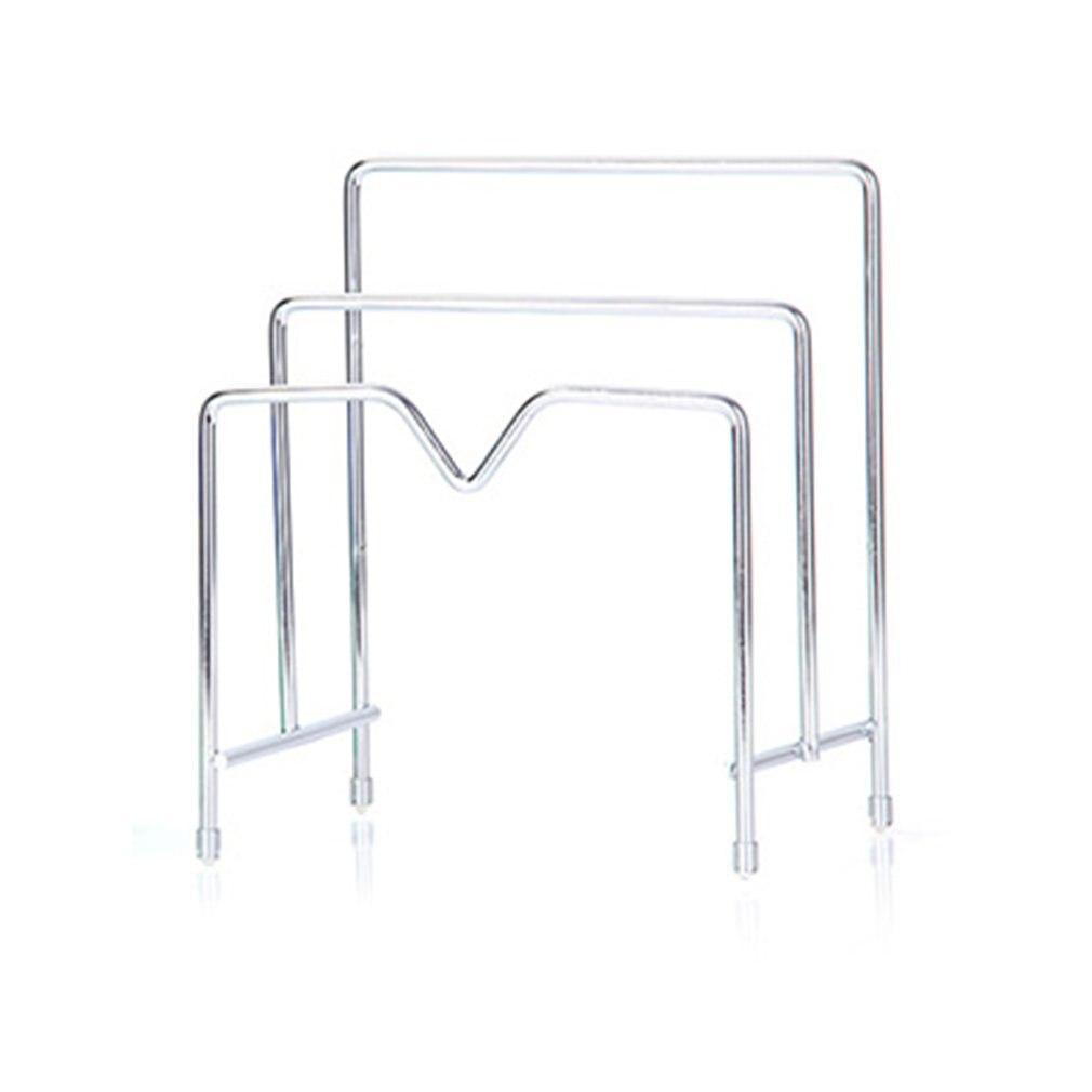 Multi-layer Kitchen Shelf Pot Lid Rack Organizer Stand For Lids Pan & Cutting Board Holder Storage Stainless Steel Dish Rack