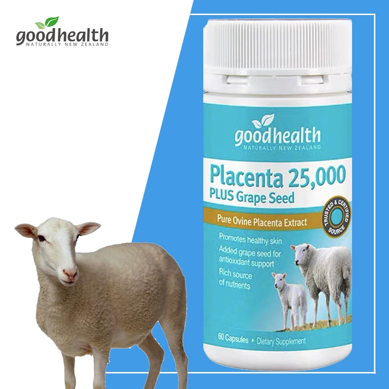 Good Health Sheep Placenta 25000mg Grape Seed Capsules Women Skin Beauty Vitality Dietary Supplement Health & Wellness Products
