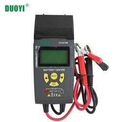 DUOYI DY3015B 12V Tester akumulatora samochodowego kwasowo-ołowiowy wielofunkcyjny analizator cyfrowy diagnostyczny z nadrukiem wielojęzyczny