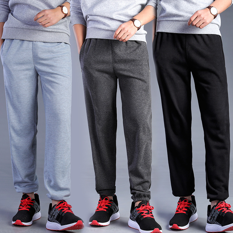 Extra-large Obesity MEN'S Sports Pants Loose-Fit Hose Pants Closing Trousers Spring And Summer New Style Outdoor Running Fitness