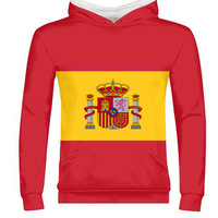 SPAIN male youth custom made name number esp zipper sweatshirt nation flag es spanish country college print photo text clothing
