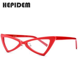 Image 3 - Montura de gafas de acetato para mujer, diseñador de marca, nuevas gafas transparentes, ojos de gato de mujer, gafas para mujer 2019