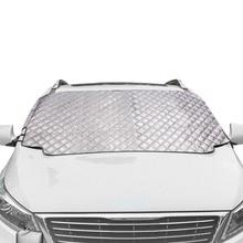 Автомобильный Снежный чехол с магнитным лобовым стеклом, толстое солнцезащитное покрытие, Солнцезащитный чехол для защиты от солнца, всепогодный зимний летний SUV Универсальный