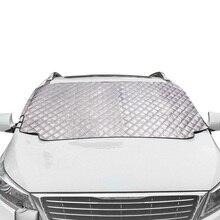 سيارة الغطاء الثلجي المغناطيسي غطاء الزجاج الأمامي سمكا الشمس الظل غطاء للحماية الشمس مانع جميع الطقس الشتاء الصيف SUV العالمي