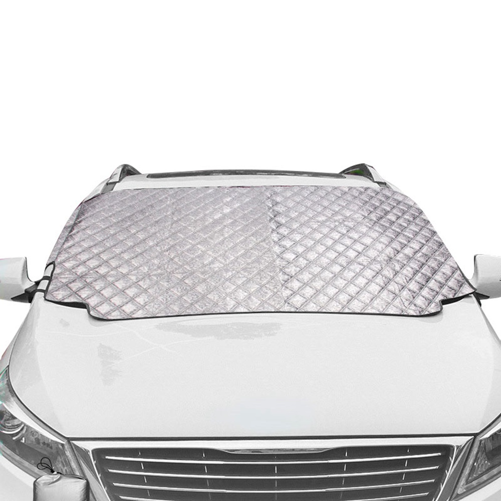 Car Snow Cover Magnetic Windshield Cover Thicker Sun Shade Protection Cover Sun Blocker All Weather Winter Summer SUV Universal