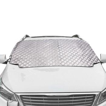 Samochód śnieg pokrywa magnetyczna osłona na szybę przednią grubsze parasol przeciwsłoneczny Pokrywa ochronna Sun Blocker w każdych warunkach pogodowych zima lato SUV uniwersalny tanie i dobre opinie RETFGTU