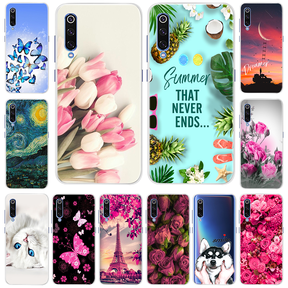 Soft Silicone Case For Xiaomi Mi 9 Fashion Pattern Soft TPU Phone Case Cover For Xiaomi <font><b>Mi9</b></font> Mi 9 Snapdragon <font><b>855</b></font> Version 6.39