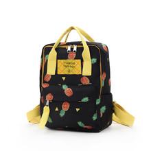 Aelicy Fashion Trendy plecaki damskie o dużej pojemności Pineappl drukowanie styl obozowy wypoczynek plecaki plecaki plecak tanie tanio Płótno WOMEN Rama zewnętrzna Poniżej 20 litr Wnętrze slot kieszeń Kieszeń na telefon komórkowy Wnętrza przedziału