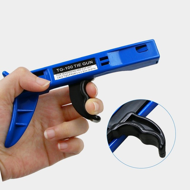 Durable Cable Tie Gun TG-100 Fastening Crimping and Cutting Tool Automatic Tensioning for Nylon Tie Special Pliers Hand Tools