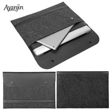 New Fashion Soft Sleeve Bag Case For Apple Macbook Air Pro Retina 11 12 13 15 Laptop Anti-scratch Felt Cover for Macbook Air 13