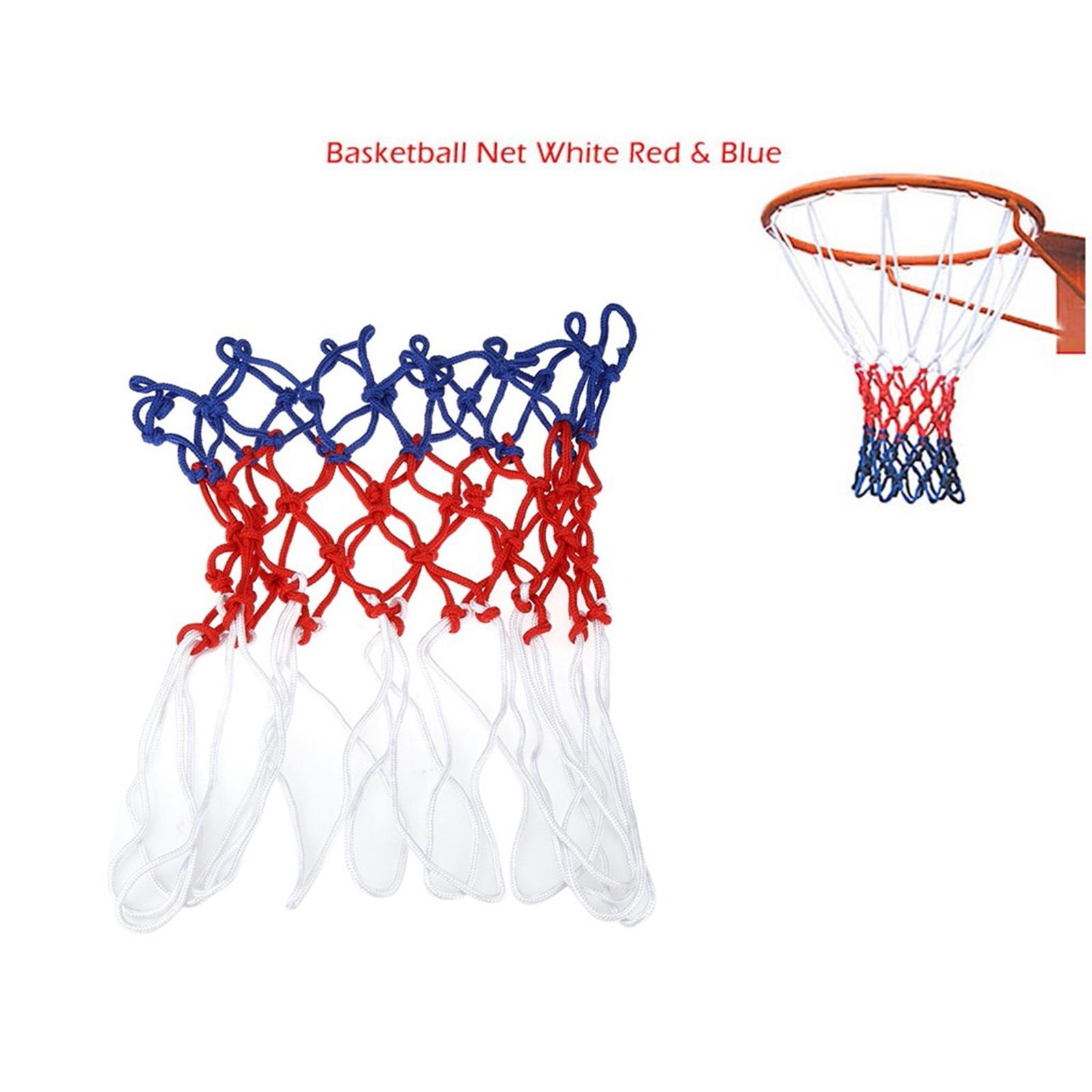 Сетка для баскетбола для спорта на открытом воздухе, стандартная нейлоновая нить, баскетбольное кольцо, сетка для баскетбола, окаймление, ш...