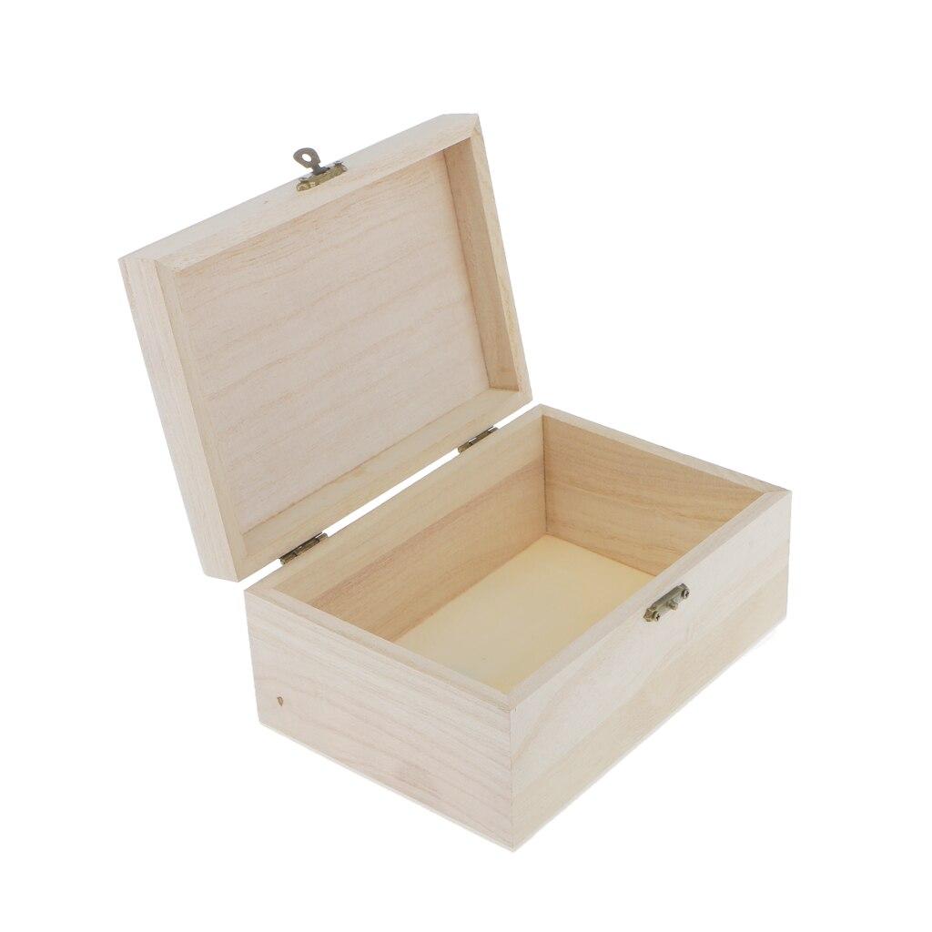 Lots Of 10pcs Handmade DIY Wooden Jewellery Box Unfinished Unpainted Case DIY Decor шкатулка для украшений