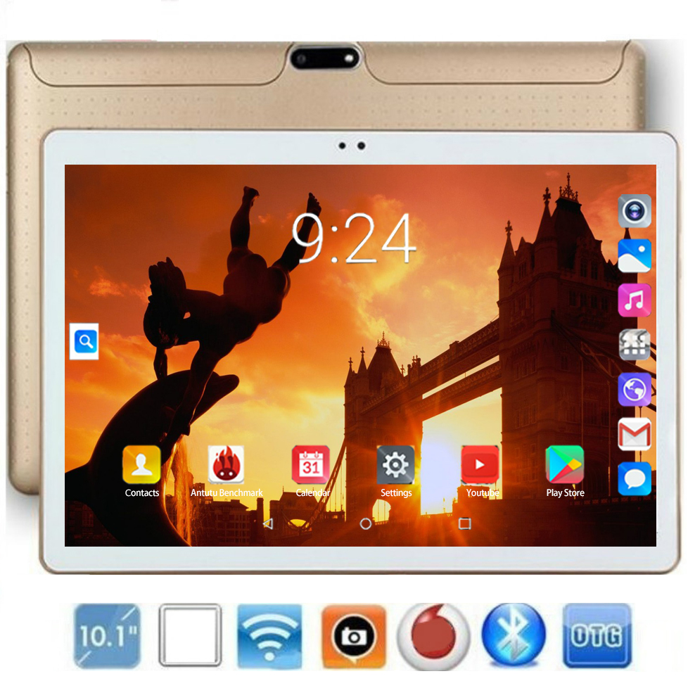 2020 New Tablet 10 Inch 3G/4G LTE Phone Call Tablet PC Octa Core 6GB RAM 128GB ROM Tab 1280x800 IPS 10.1 Tablets Android 8.0