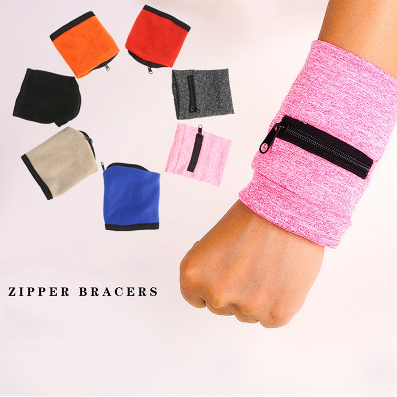 Zipper Type Hand Guard Fitness Wristband Basketball Wristband Coin Purse Key Case Sports Armband Object Storage 1