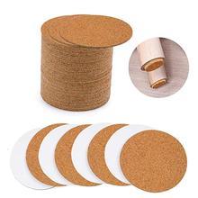 40pcs Self-adhesive DIY Cork Mattress Cushion Insulation Coaster Rubber Gasket