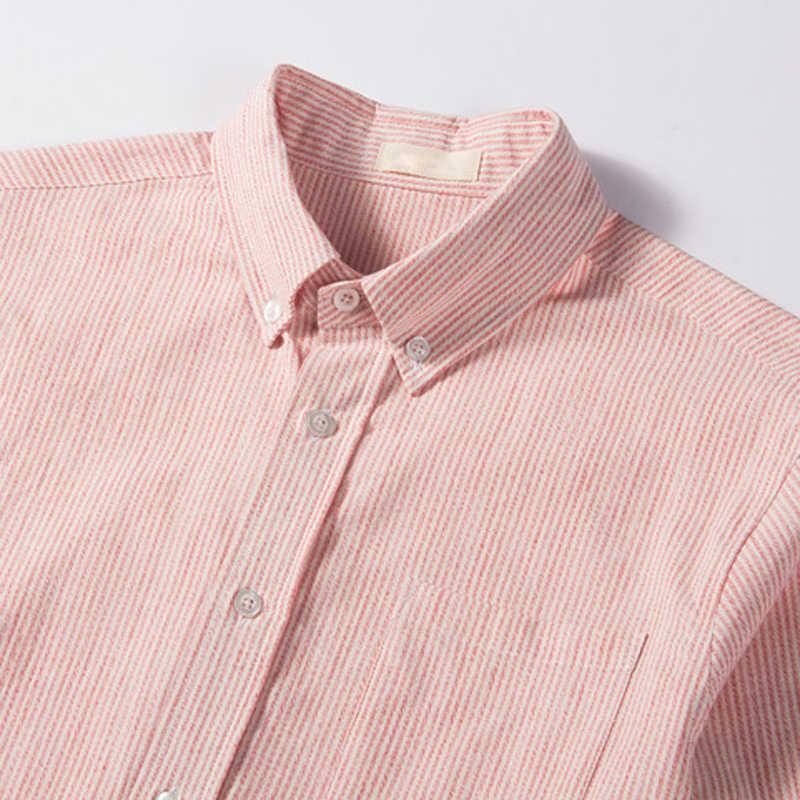 Slim Fit Dunne Zomer Mannen Jurk Shirts Casual Mans Linnen Shirts Europese Stijl Groothandel Streetwear Heren Camisa Masculina A730