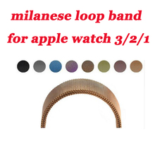 Stainless Steel metal Strap For Apple Watch band Milanese Loop 42mm 38 40mm 44mm Bracelet for iwatch wristband series 5/4/3/2/1 цена и фото