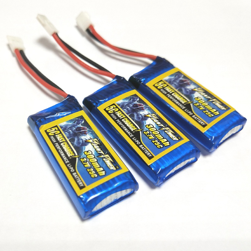Giant Power <font><b>3.7V</b></font> <font><b>300mAh</b></font> 1S 25C <font><b>Lipo</b></font> <font><b>Battery</b></font> With White Plug for Coreless RC Quadcopter image