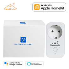 Timethinker Smart WiFi Socket for Apple Homekit EU Plug Work Alexa Google Home APP Siri Voice Remote Control Russian Stock