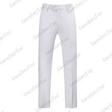 Gwenhwyfar, белые одноцветные штаны, мужские повседневные эластичные длинные брюки, мужские хлопковые прямые рабочие брюки, мужские осенние большие размеры