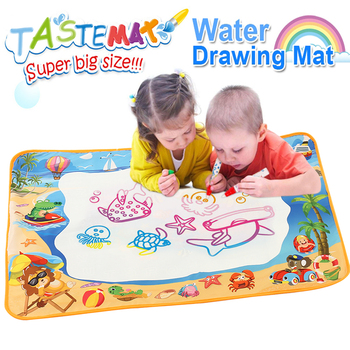 100*70CM Water Painting Doodle Mat with Pen Magic Water Drawing Coloring Kids Crafts Educational Water Drawing for Children 80x60cm water drawing mat