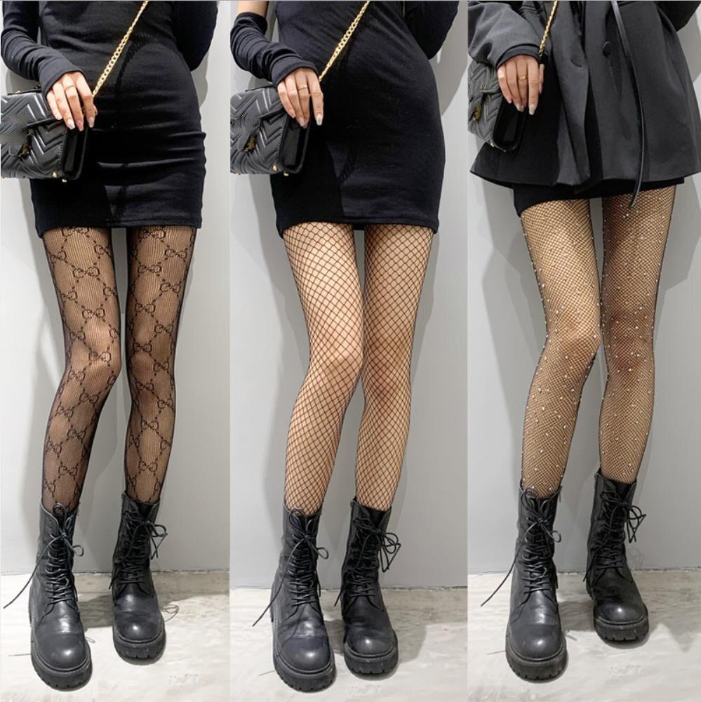 Колготки Для женщин сексуальные женские ажурные чулки черного цвета нижнее белье нижнее бельё для девочек Горячая обувь для ночных клубов ...