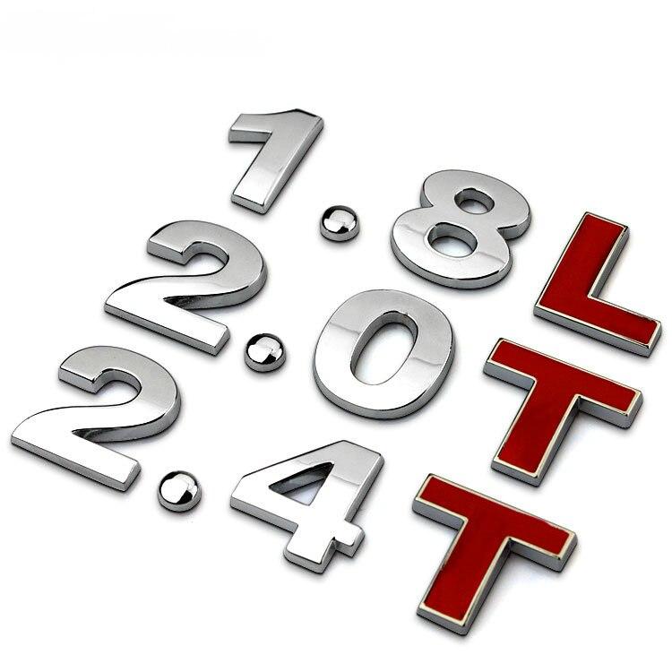 1X 3D багажник автомобиля наклейки Стикеры эмблема Стикеры значок 3D логотип 1,4 T 2,0 T 1,8 T 2,4 T 3,0 T V6 RS стайлинга автомобилей