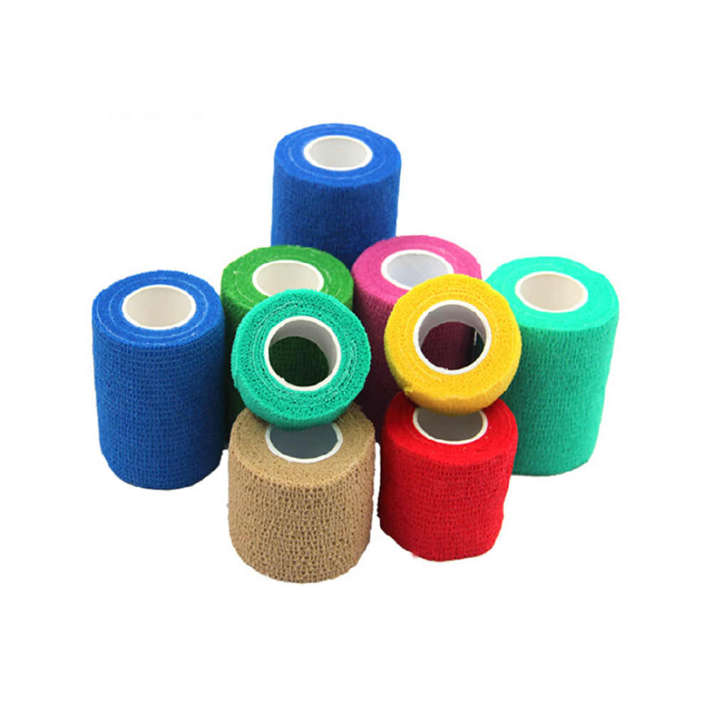 6 rolos à prova dwaterproof água auto-adesivo elástico bandagem coesa fita de primeiros socorros médica terapia de cuidados de saúde bandagem 2.5/5/7.5/10cm