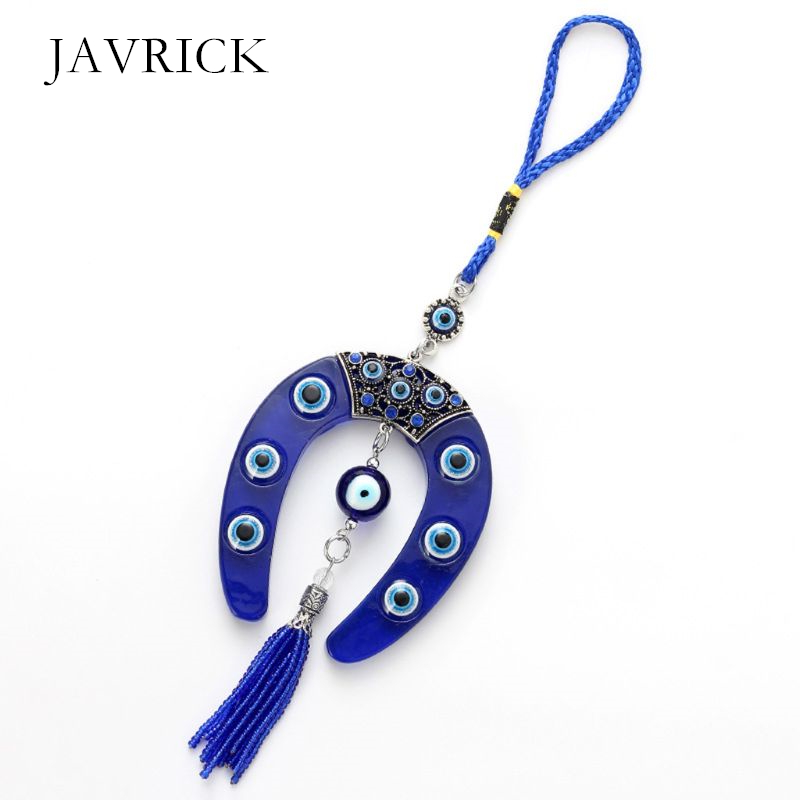 Turkish Blue Evil Eye Keychain Car Key Ring Amulet Lucky Charm Hanging Pendant Personality Jeans Decoration Jewelry Gift