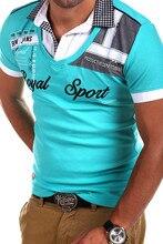 ZOGAA 2020 erkekler polo gömlekler kısa kollu rahat sıcak moda üst giyim turn aşağı yaka nefes mektup baskılı polo gömlekler erkek tee
