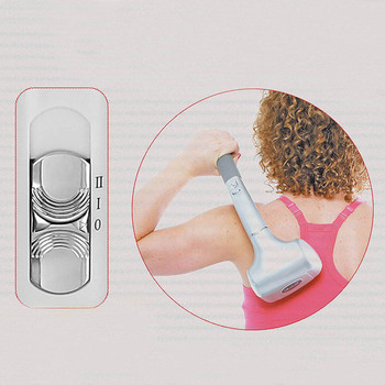 Back Massager, Double Head Electric Full Body, Deep Tissue Percussion for Muscles, Head, Neck, Shoulder, Back, Leg Handheld